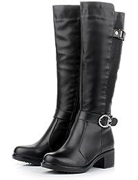 Husk'Sware Caer Los Zapatos de Moda de Invierno Botas de Cuero de Las Mujeres
