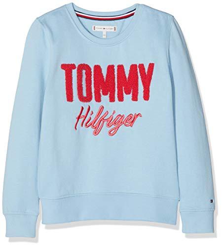 Tommy Hilfiger Mädchen Sweatshirt Mixed Applique, Blau (Blue Bell 416) 164 (Herstellergröße: 14)