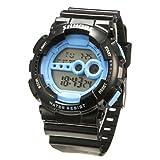 Fenkoo Herren Armbanduhr digital LCD / Kalender / Chronograph / Alarm / Sportuhr Caucho Band Schwarz Marke-