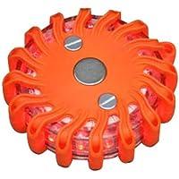 Gyrophare balise de signalisation lumineuse LED avec base magnétique (Orange)