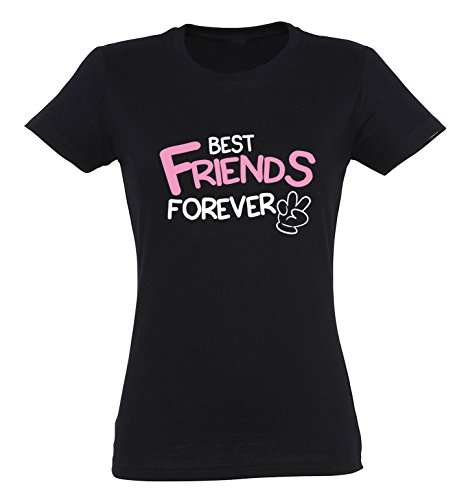 SE-creation BFF Damen Partner T-Shirts | Best Friends Forever Peace (Freundin T-shirt Gelben Beste)