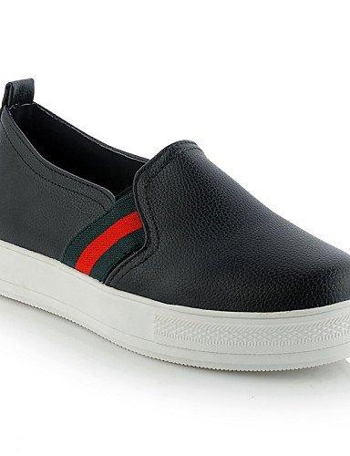 Chaussures Femme Shangyi Gyht - Mocassins - Loisirs / Formel / Décontracté - Plates-formes / Flâneurs - Plates-formes - Similicuir - Noir / Rouge / Blanc Blanc
