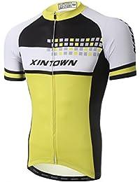 Amur Leopard Homme Vêtements de Cyclisme Respirant Cycling Jersey Manches Courtes Maillot velo