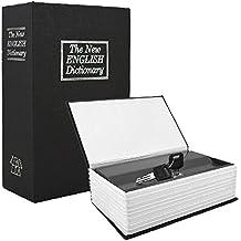 Ailiebhaus Caja Fuerte Libro falsa libro escondite secreto Dinero libro Hucha, negro, 18*11.5*5.5