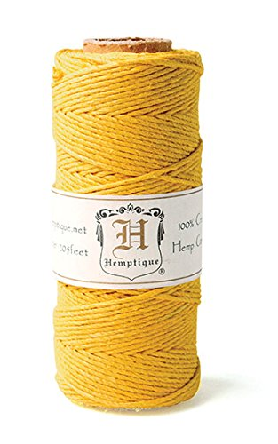 Hemp Cord Spool 20# 205'/Pkg-Gold -