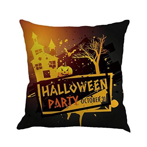 SEWORLD Happy Halloween Kissenbezüge Leinen Sofa Kissenbezug Home Decor E