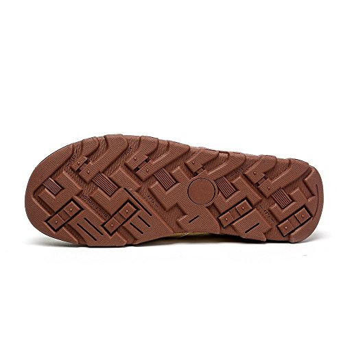 Do.BOMRVII Männer Casual Canvas Leichte Boots-Schuhe Low Top Slip-On Loafer Wohnungen Light Tan