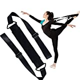 Fascia per allungamento della gamba, per ginnastica, danza, allenamento, stretching, yoga, per migliorare la flessibilità in casa o in palestra, Black