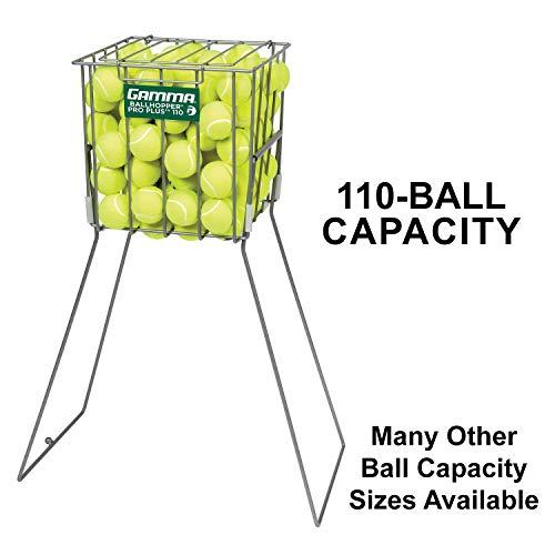 GAMMA Sport Tennis ballhoppers-langlebig, praktisch, robuste Konstruktion, für Tennis Ball Pickup, Transport und Aufbewahrung, (verschiedene Designs/Kapazitäten zu halten 50, 55, 75, 90, 110, 140Bälle), unisex - erwachsene, Pro Plus 110 (Holds 110 Balls), Holds 110 -