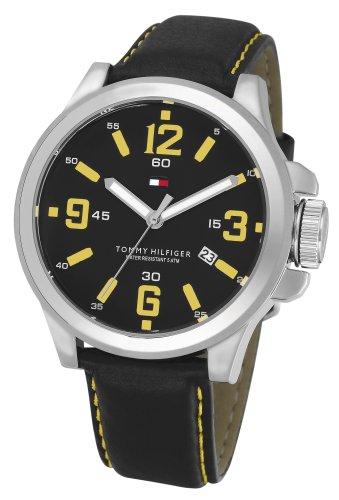 Tommy Hilfiger 1790627–Montre de Poignet pour homme, bracelet en cuir