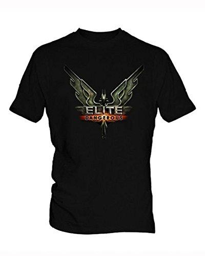Mukenzee Elite Dangerous Negro T-Shirt Hombre
