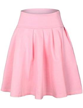 Falda plisada,Gusspower Falda Mujer Elástica Plisada Básica Patinador Multifuncional Corto de tenis Mini Corto...