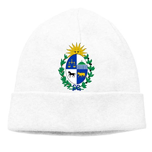 Coat of Arms of Uruguay Warm Stretchy Solid Daily Skull Cap Knit Wool Beanie Hat Outdoor Winter -