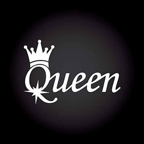 Queen Auto Aufkleber 13,5 cm x 9,0 cm JDM OEM Tuning Sticker Decal 30 Farben zur Auswahl