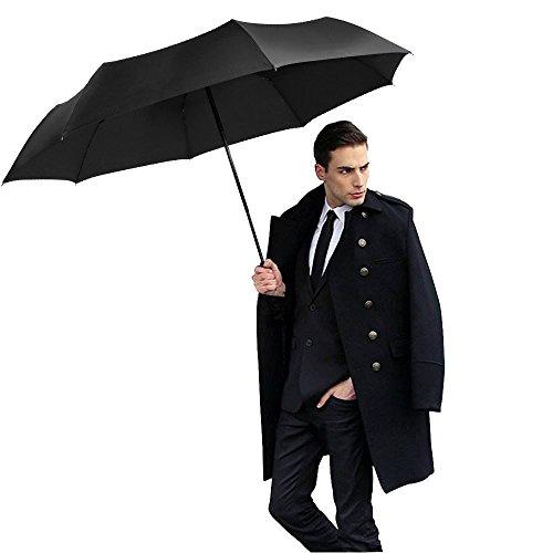 Regenschirm | Satu Brown Automatischer Taschenschirm mit 210T Stoff | Automatisches Öffnen und Schließen | Kompakter Reiseschirm für Frauen und Männer | Sturmfest Windfest Stabil Klassisch - Superhelden-stiefel Grüne