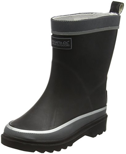 Regatta Foxfire - Bottes de pluie Garçon Noir (Black 800)