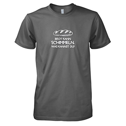 TEXLAB - Brot kann schimmeln - Herren T-Shirt, Größe L, grau