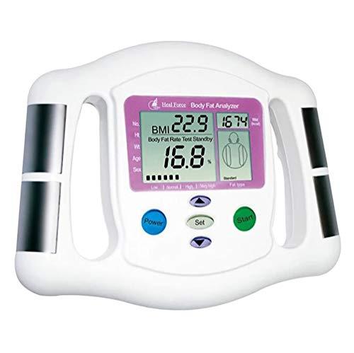 ZUZU BMI-Gesundheitsmonitor Digitaler Handheld-BMI-Monitor LCD-Anzeige Körperfettmessung in Prozent Gewichtsverlust/Fitness-Überwachungsgerät Handheld-lcd-monitor
