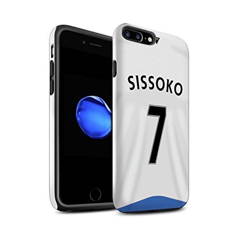 Officiel Newcastle United FC Coque / Brillant Robuste Antichoc Etui pour Apple iPhone 7 Plus / Rivière Design / NUFC Maillot Domicile 15/16 Collection Sissoko