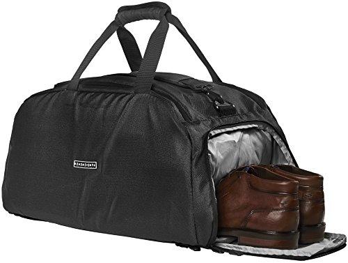 RONIN'S Active Travel Gear Ronin's 3in1 Sporttasche Reisetasche mit Schuhfach + Rucksack-Funktion + Laptopfach | 38 Liter Handgepäck Weekender | für Männer und Frauen | Spacegrau