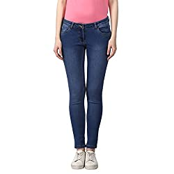 Park Avenue Womens Skinny Fit Jeans (PWYZ00486-B5_Medium Blue_91)