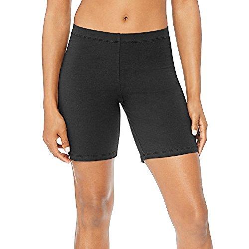 Hanes Women's Stretch Jersey Bike Shorts_Black_L