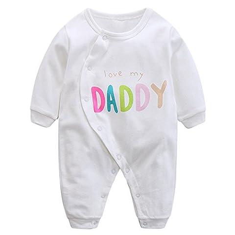 MNBS Baby Säugling Schlafstrampler Unisex Strampelanzug Erstausstattung Overall Niedlich Daddy
