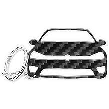 VW Golf 7 R GTI GTD Carbono de Fibra Tuning Llavero cadena de clave