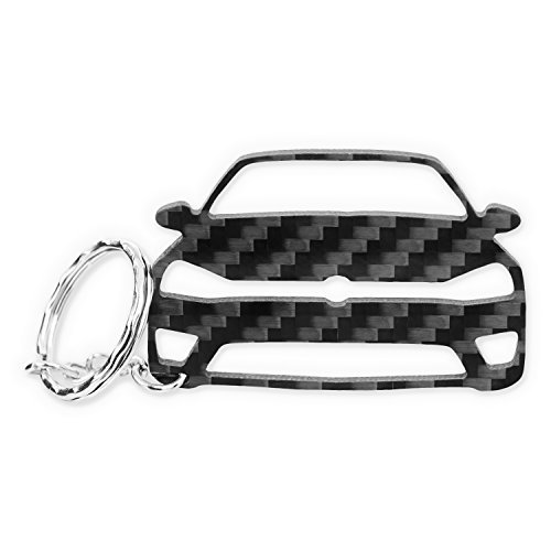 ACF VW Golf 7-R GTI GTD Carbon Tuning Schlüssel-Anhänger | 5,5 x 3,8 cm (3 Golf Club)