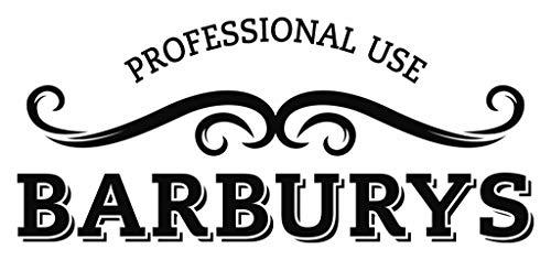 BARBURYS Massiver Barber-Stuhl Friseurstuhl Bedienungsstuhl Verchromt Professional Qualität Saloneinrichtung Rot