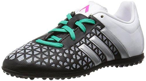 adidas Ace 15.3 Tf J, Chaussures de Football Mixte Bébé Multicolore - Negro / Plateado / Blanco (Negbas / Plamat / Menimp)