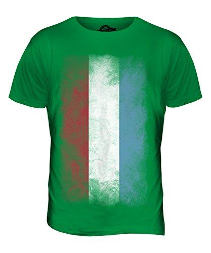 CandyMix Luxemburg Verblichen Flagge Herren T Shirt Grün