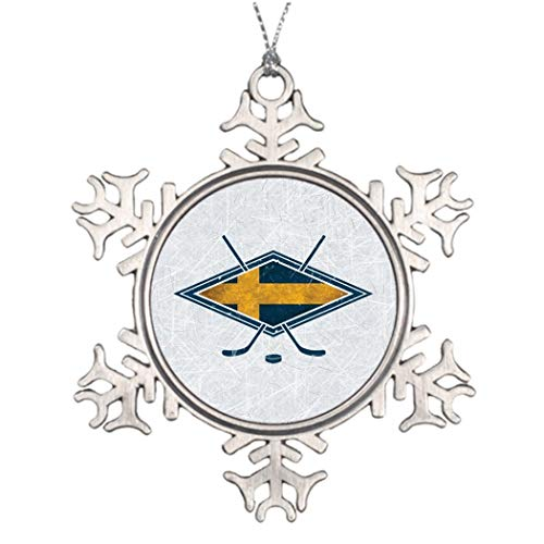 Monsety Schwedischer Eishockey Anstecker Hockey Pin Urlaub Weihnachtsbaum Dekoration Schneeflocke Ornament Hochzeit