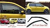2x Deflettori D'Aria Compatibile con V W Up per Skoda Citigo Seat MII 2011-presenti 5-Porte Antiturbo Per Auto Vetro Acrilico Anti Vento Guardia di Pioggia Sole Neve Qualità premium PMMA
