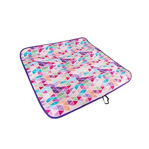 ZWJPJL Outdoor Picknick Isomatte, Doppelte Decke wasserdichte Picknick Strand Isomatte Camping Spielmatte Plaid Decke (90 * 90 cm),B,90 * 90CM