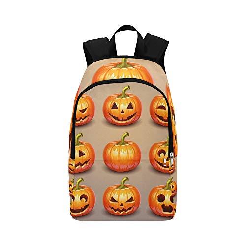 Set Kürbisse Halloween lässig Daypack Reisetasche College School Rucksack für Herren und Frauen