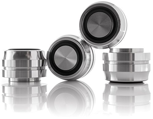 Hifi Lab Aluminium Füße massiv 33x22 Alu Geräte-Füße hoch Audio Absorber edel 4X 4 X Audio -