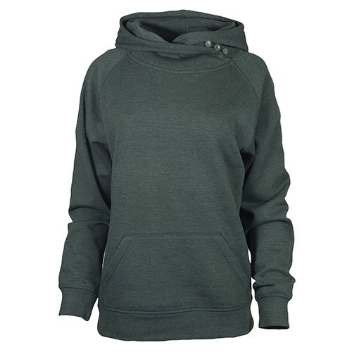 Ouray Sportswear Damen Asym Redux Hood Kapuzenpullover, Athletic Hunter Heather, Medium - Jumper Hunter Sweatshirt