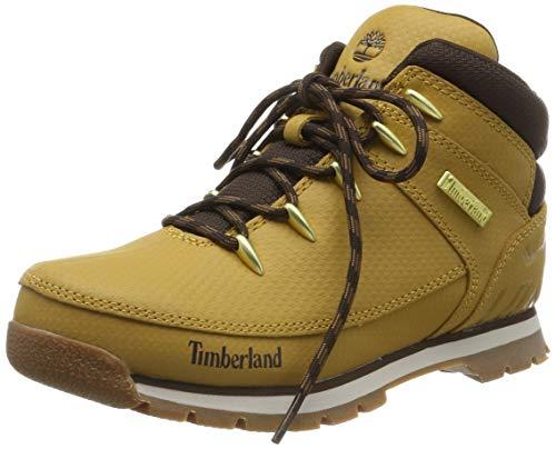 Timberland Euro Sprint, Botas Clasicas Unisex-Niño, Amarillo Wheat Tec Tuff, 37 EU