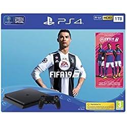 PlayStation 4 (PS4) - Consola 1 TB + FIFA 19 - Edición Estándar