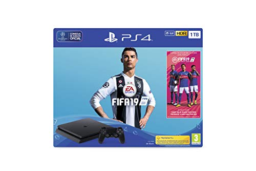 PlayStation 4 (PS4) - Consola 1 TB + FIFA 19 - Edición...