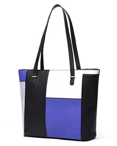 fanova-women-female-patchwork-handbags-contrast-color-pu-shoulder-bag-tote