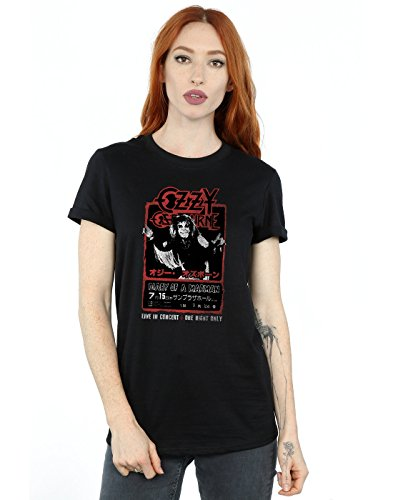 Ozzy Osbourne Mujer Japan Flyer Camiseta del Novio Fit Large...