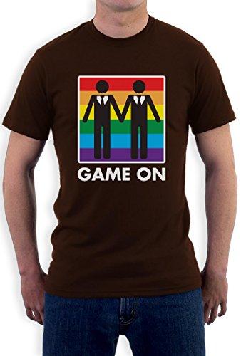 Game On! Ehe für Alle - Design für Gleichstellung Gay T-Shirt Braun
