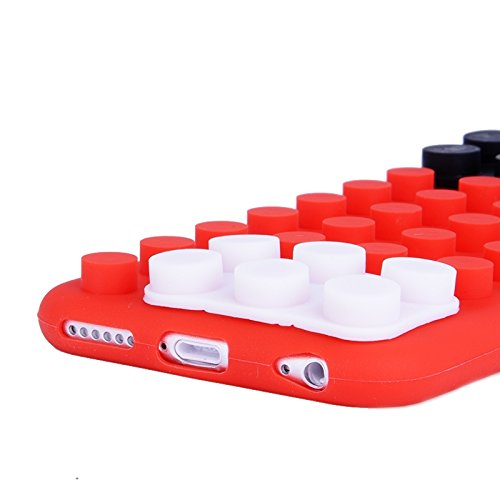 Wkae Case & Cover texture modulaire pour iphone 6 &6s silicone ( Color : Red )