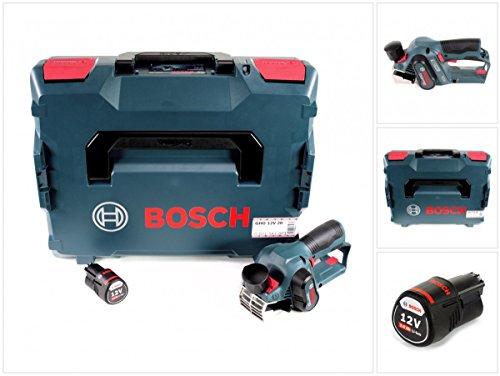 Bosch GHO 12V-20 Akku Hobel Professional in L-Boxx + 1x GBA 12 V 2,0 Ah Akku - ohne Ladegerät