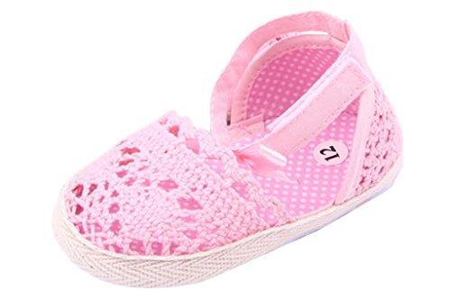 Eozy Sandálias Bebê De Malha, Sapatos De Bailarina Rosa Festiva