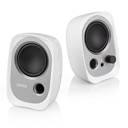 Edifier R12U WT USB-Lautsprecherset (Bassreflex-Port, Kopfhöreranschluss, integrierter Lautstärkeregler) weiß