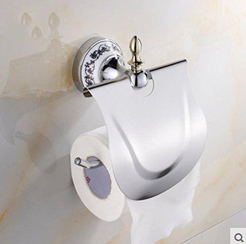 SQL Badezimmer Zubehör-Racks Gold Basis mit keramischen Toilettenpapier Halter europäischen Stil Handtuch Rack Hardware Bad-Accessoires . 2 (Badezimmer Hardware Zubehör)