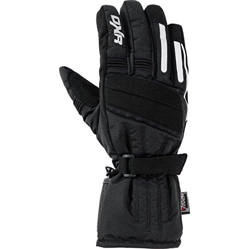 DXR Motorradschutzhandschuhe, Motorradhandschuhe lang Textilhandschuh 1.0, Motorradhandschuhe Herren, Knöchelabdeckung, Visierwischer, Reflektoren, Fleecefutter, Schwarz, 11 (Stiefel 11 Herren Größe Polo)